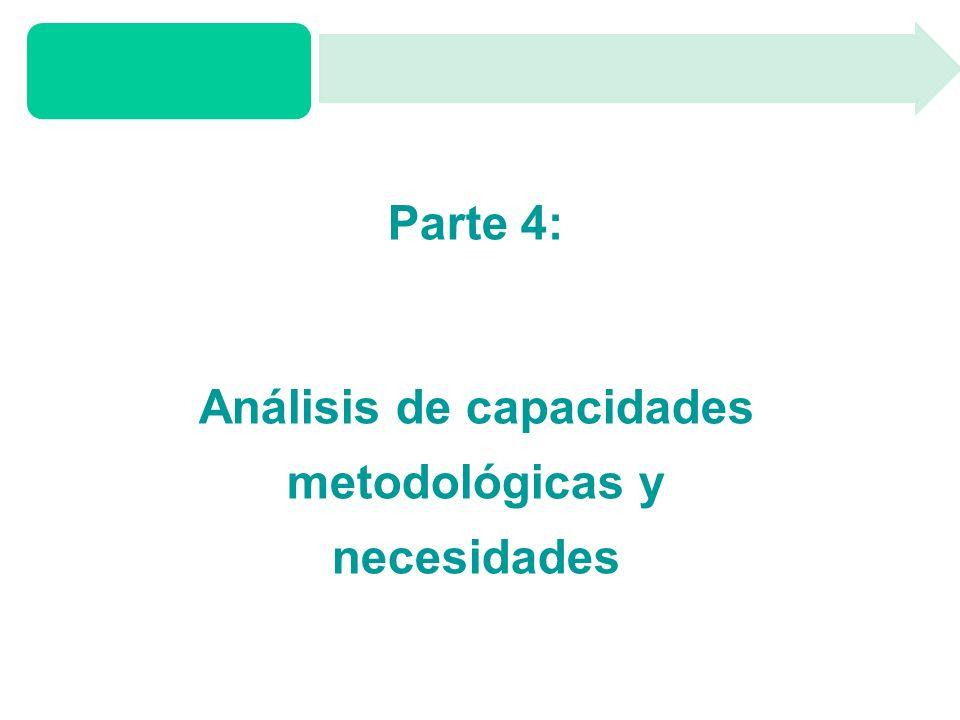 Parte 4: Análisis de capacidades metodológicas y necesidades