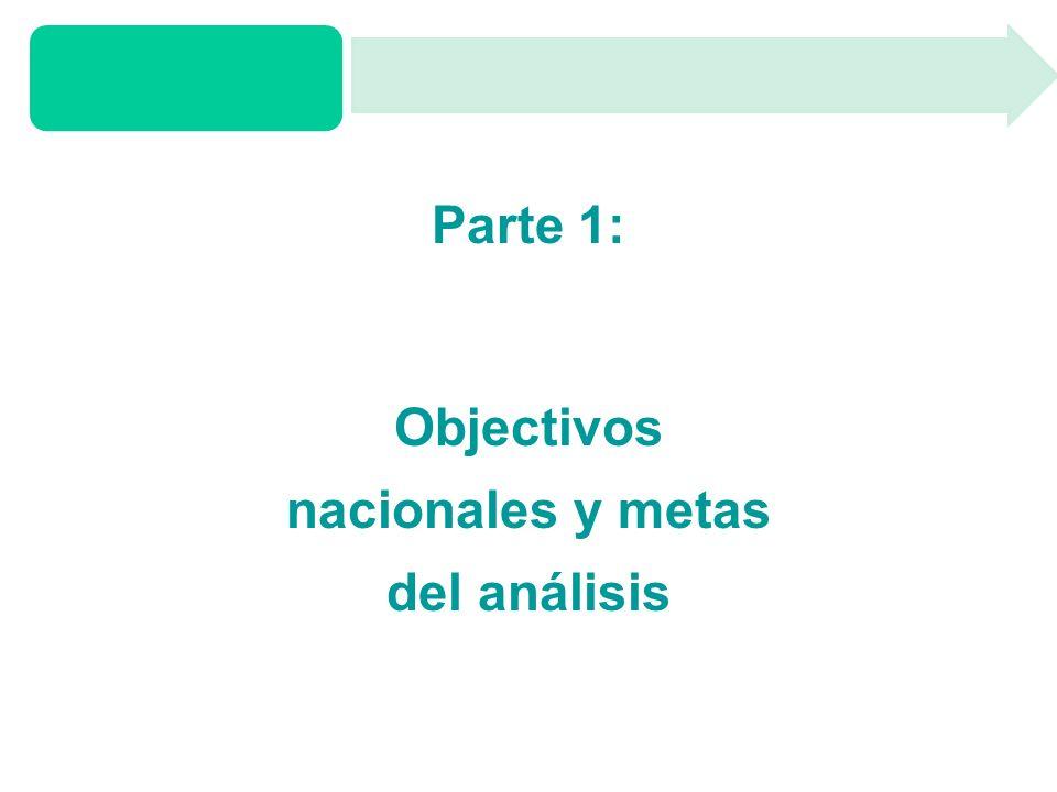 Parte 1: Objectivos nacionales y metas del análisis