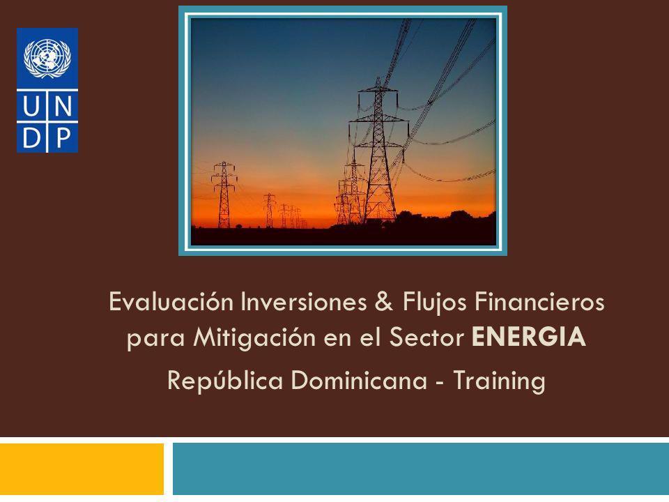 Datos históricos de FI&F anuales (ej.2003-2005) Producto esperado – Sector Energía 2.