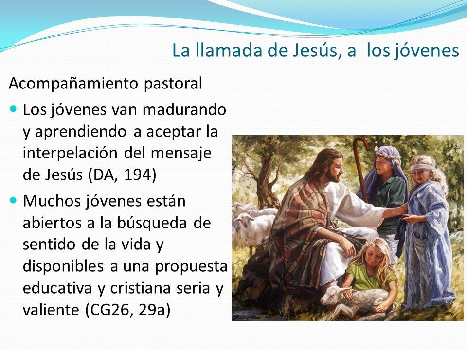 Acompañamiento pastoral Los jóvenes van madurando y aprendiendo a aceptar la interpelación del mensaje de Jesús (DA, 194) Muchos jóvenes están abierto