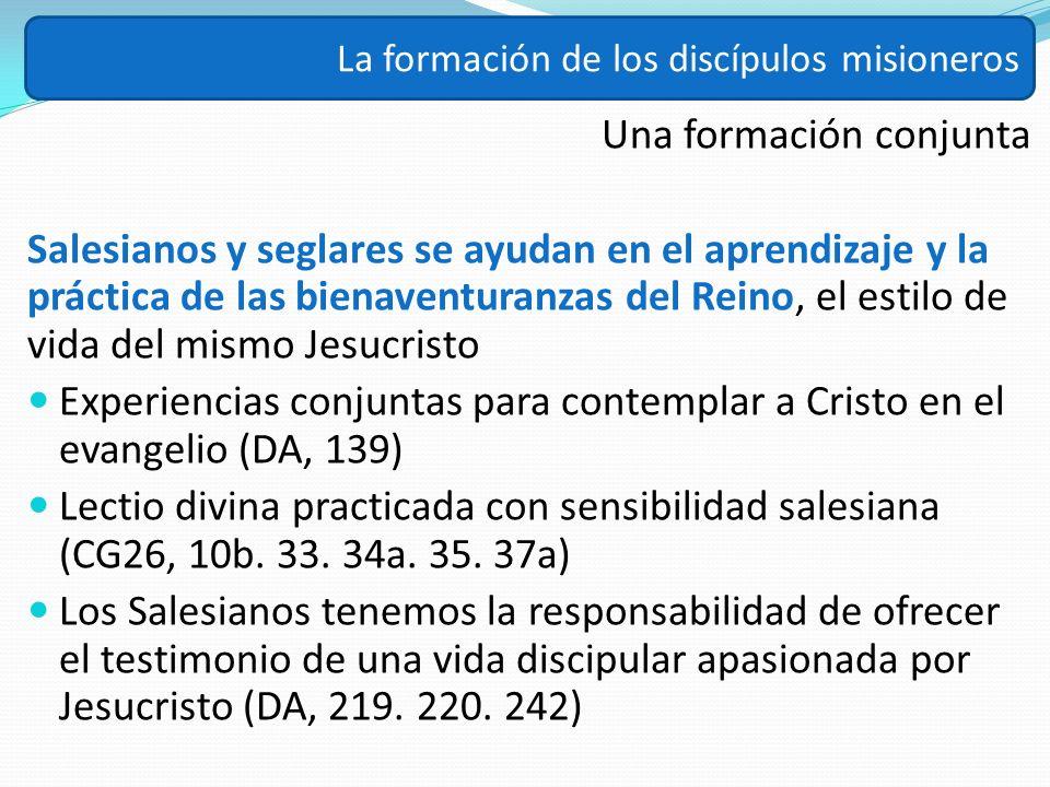 Una formación conjunta Salesianos y seglares se ayudan en el aprendizaje y la práctica de las bienaventuranzas del Reino, el estilo de vida del mismo