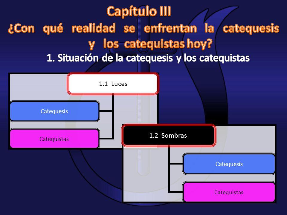 1.1 Luces Catequesis Catequistas 1.2 Sombras Catequesis Catequistas