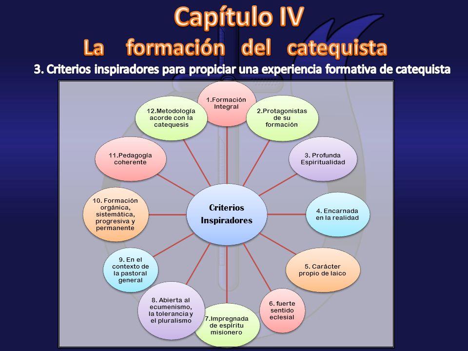 Criterios Inspiradores 1.Formación Integral 2.Protagonistas de su formación 3. Profunda Espiritualidad 4. Encarnada en la realidad 5. Carácter propio
