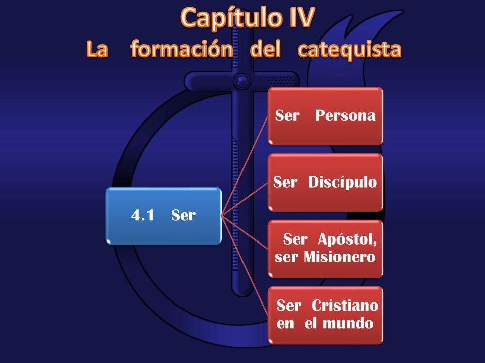 4.1 SerSer PersonaSer Discípulo Ser Apóstol, ser Misionero Ser Cristiano en el mundo