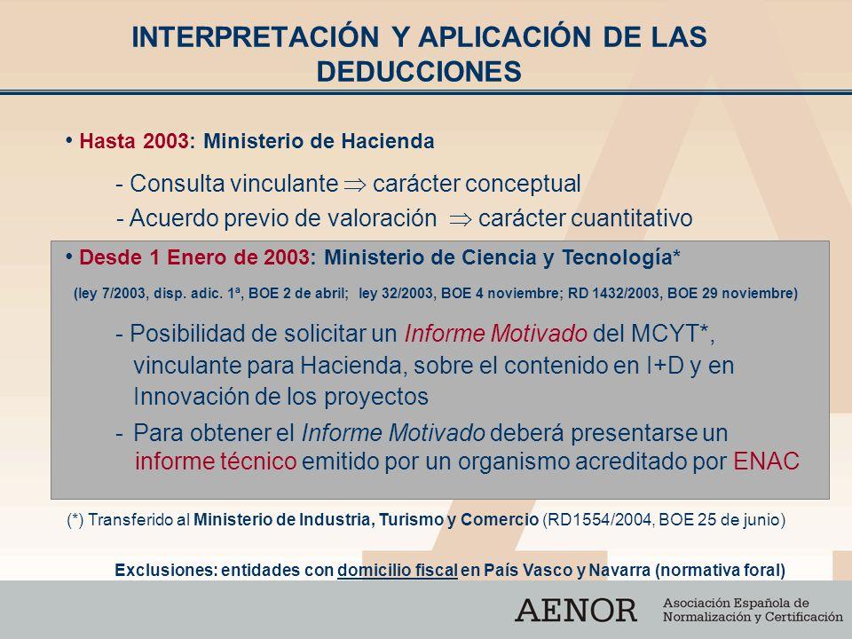 - Consulta vinculante carácter conceptual - Acuerdo previo de valoración carácter cuantitativo Hasta 2003: Ministerio de Hacienda Desde 1 Enero de 200