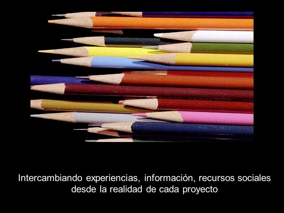 Intercambiando experiencias, información, recursos sociales desde la realidad de cada proyecto