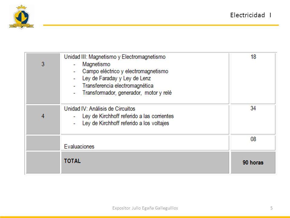 5Expositor Julio Egaña Galleguillos Electricidad I