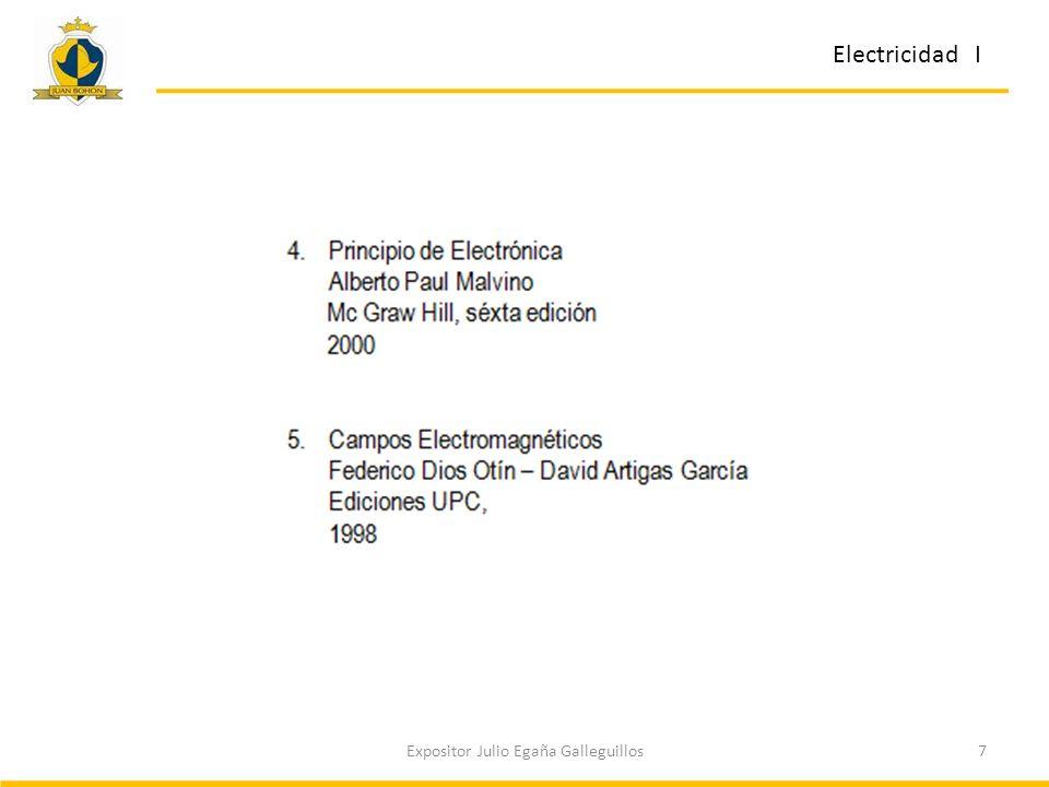 7Expositor Julio Egaña Galleguillos Electricidad I