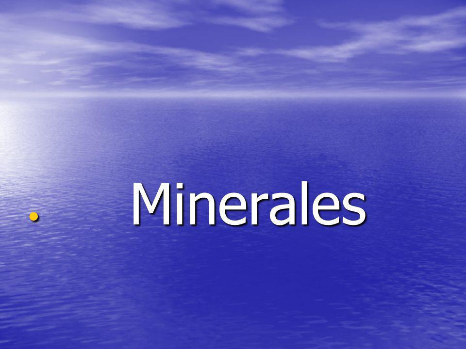 Minerales Minerales