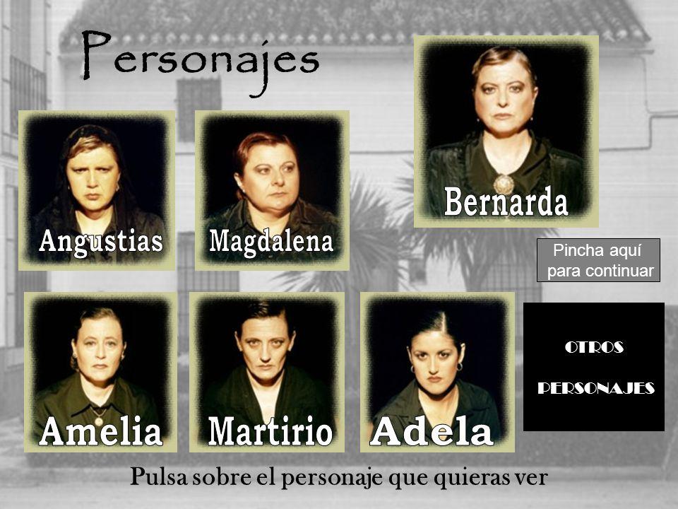 Personajes Pulsa sobre el personaje que quieras ver OTROS PERSONAJES Pincha aquí para continuar