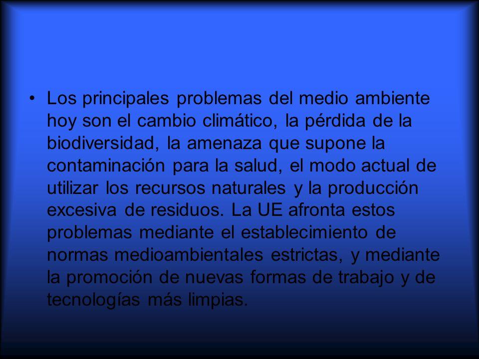 Principios fundamentales Las decisiones de política medioambiental se basan en una serie de principios fundamentales.