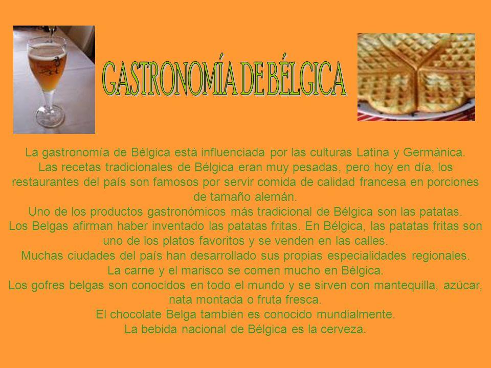 La gastronomía de Bélgica está influenciada por las culturas Latina y Germánica.