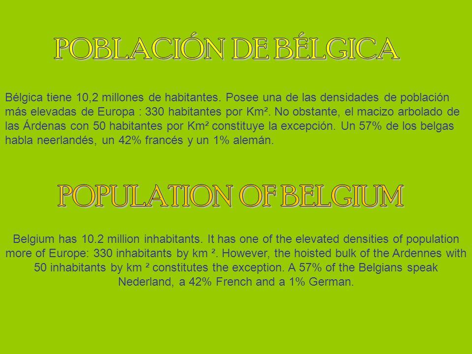 Bélgica tiene 10,2 millones de habitantes.