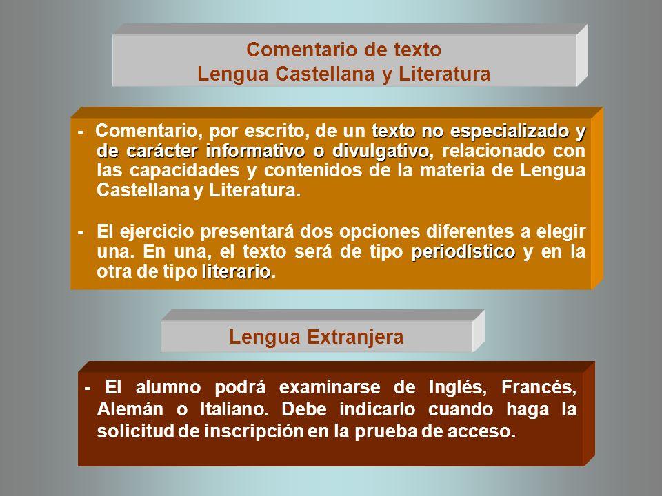 Una materia de modalidad de 2º Bachillerato - Consistirá en la respuesta por escrito a una serie de cuestiones.