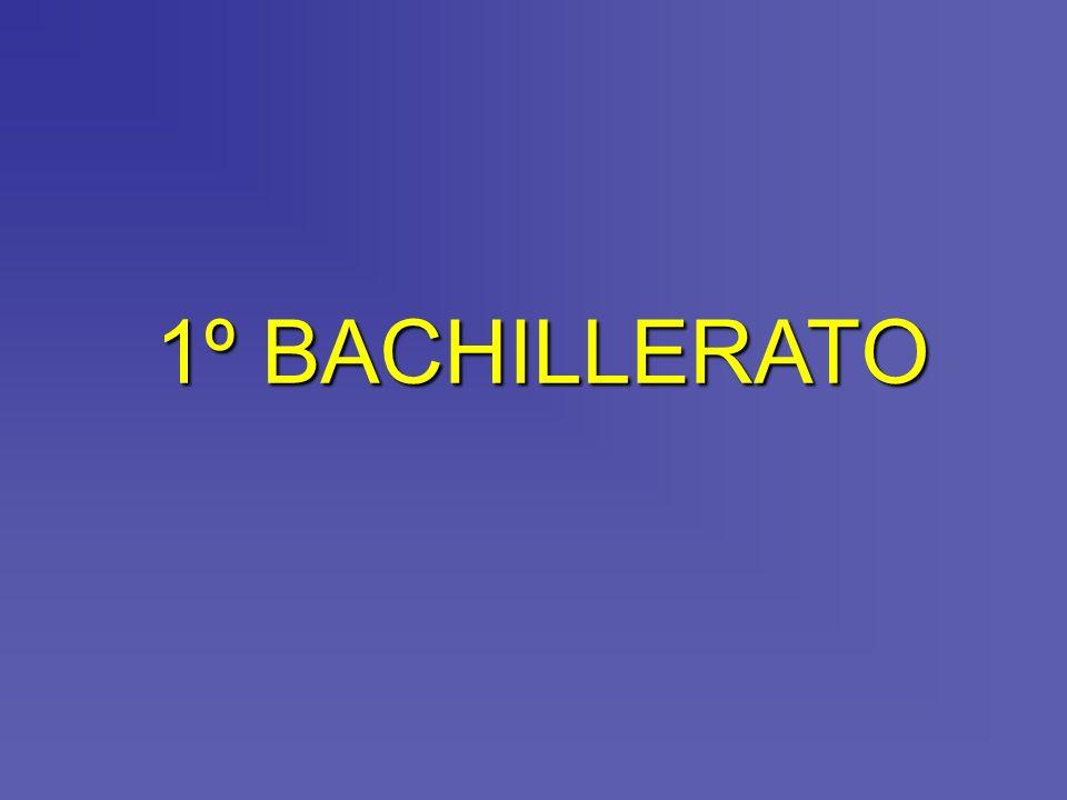 1º BACHILLERATO