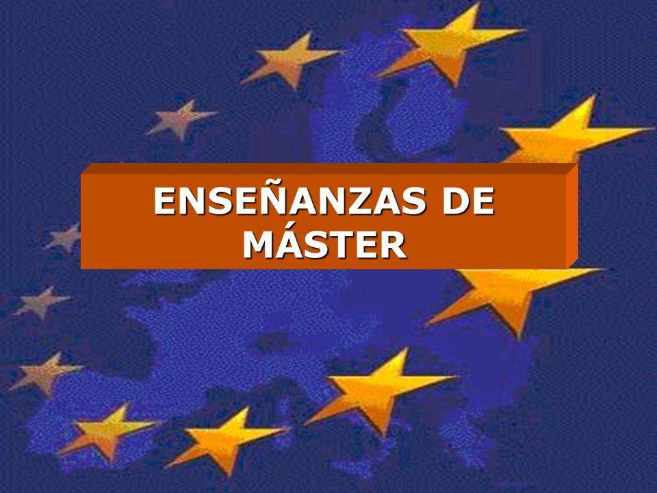 ENSEÑANZAS DE MÁSTER