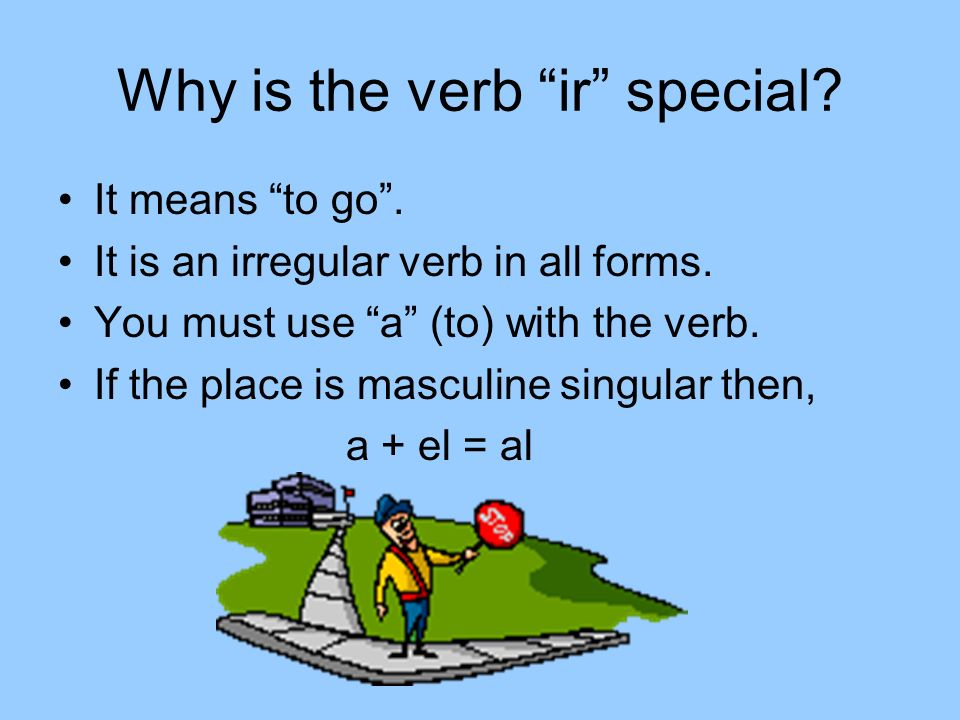 Why is the verb ir special. It means to go. It is an irregular verb in all forms.