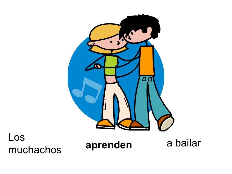Los muchachos aprenden a bailar