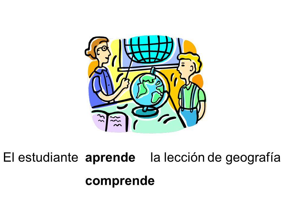 El estudianteaprende comprende la lección de geografía