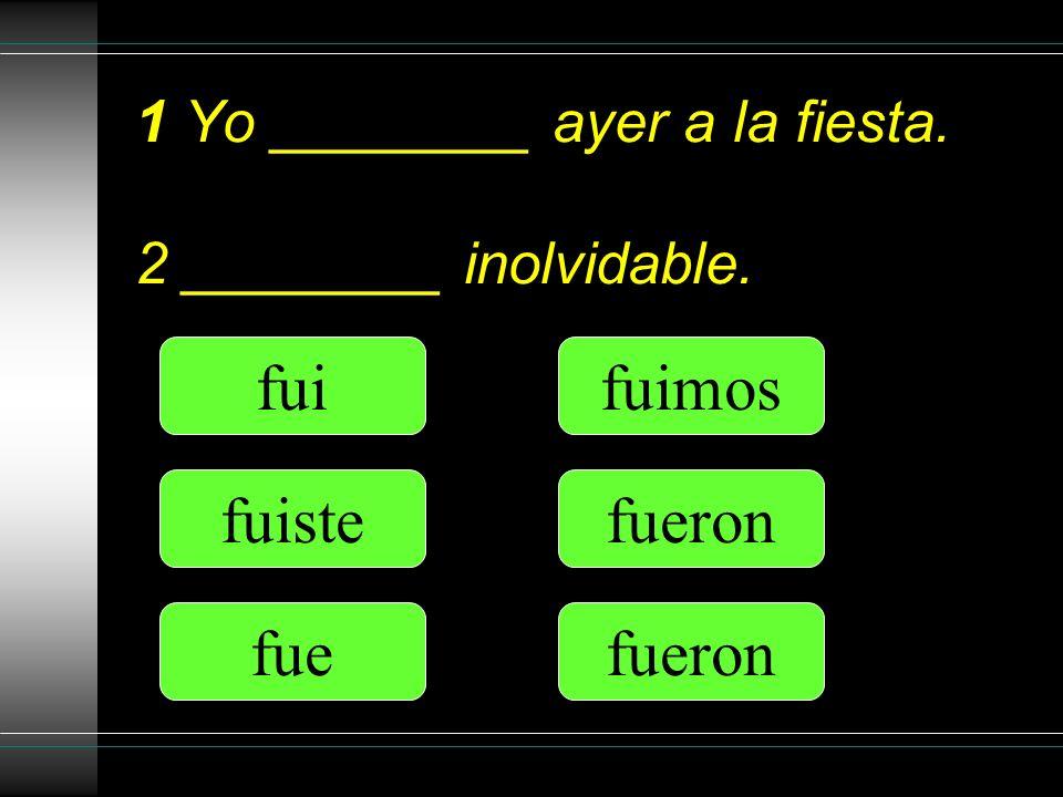Nosotros te _________ una revista en español. di diste dio dimos dieron