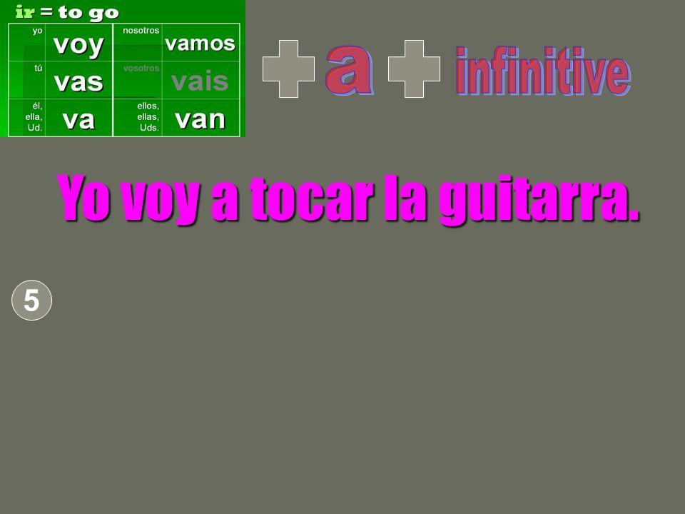 Yo voy a tocar la guitarra. 5