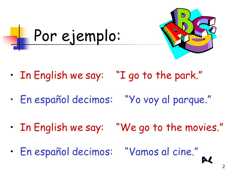 1 El Verbo IR (to go)