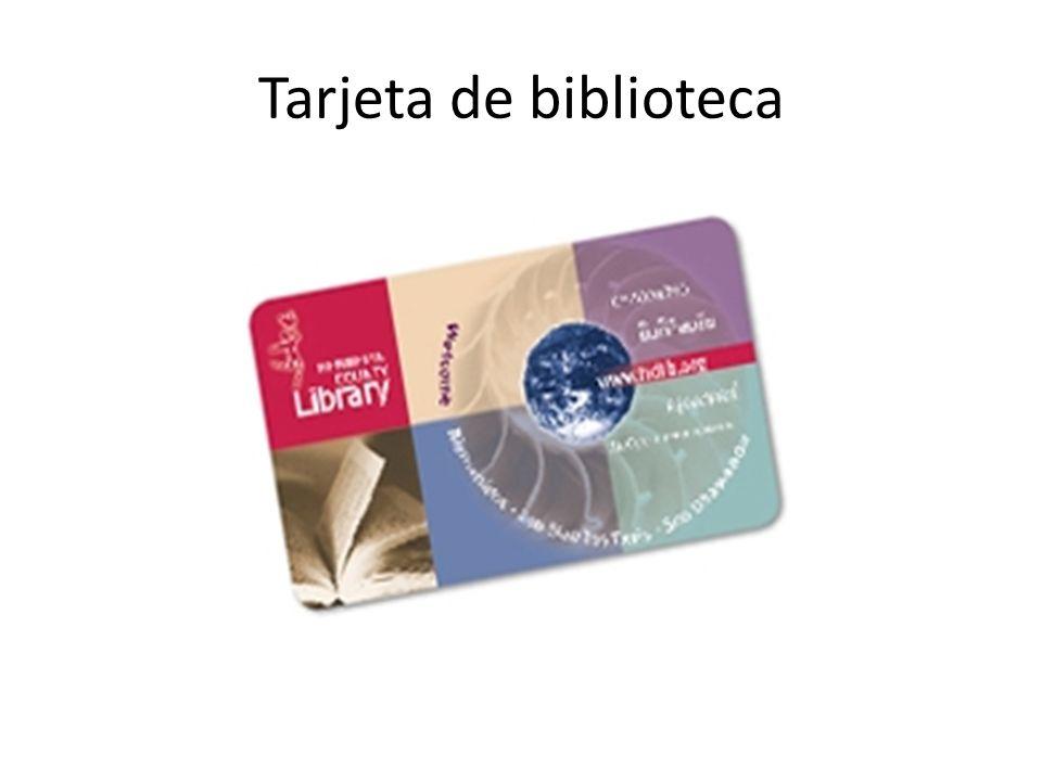 Tarjeta de biblioteca