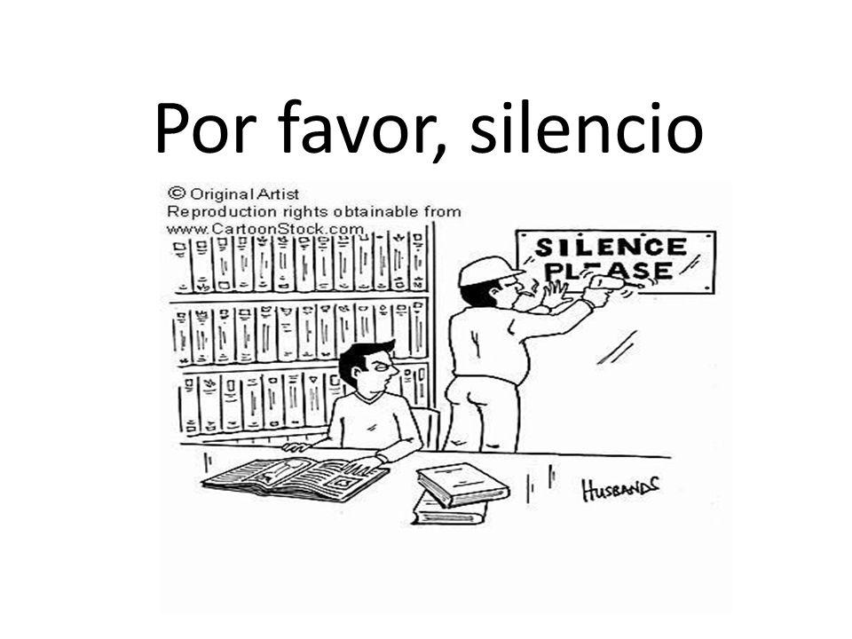 Por favor, silencio