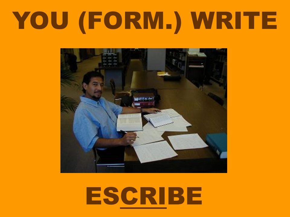 YOU (FORM.) WRITE ESCRIBE