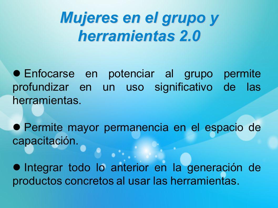 Enfocarse en potenciar al grupo permite profundizar en un uso significativo de las herramientas. Permite mayor permanencia en el espacio de capacitaci
