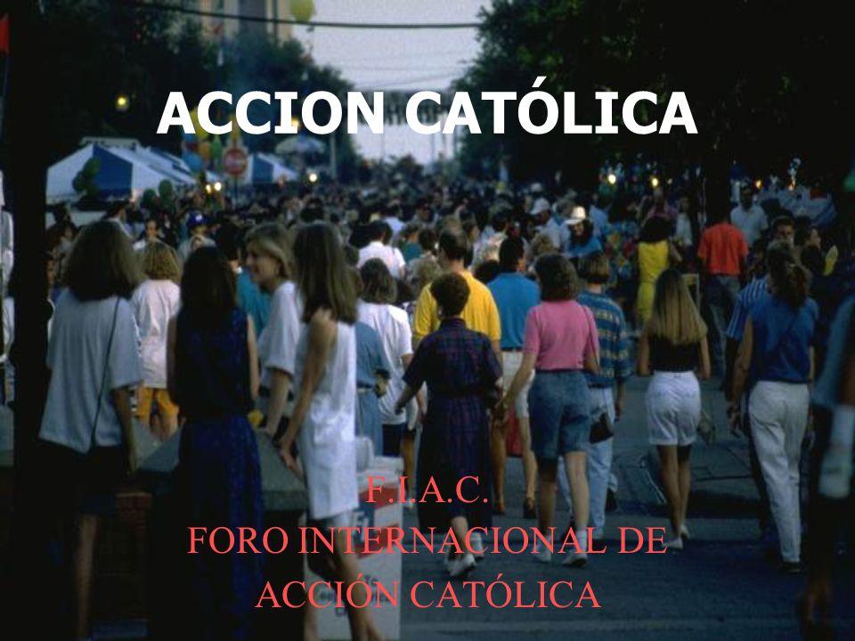 En la eclesiología conciliar de comunión y misión, se define la identidad de la AC a través de las cuatro notas de AA nº 20 ECLESIALIDAD LAICIDAD ORGANICIDAD VINCULACIÓN CON LA JERARQUÍA