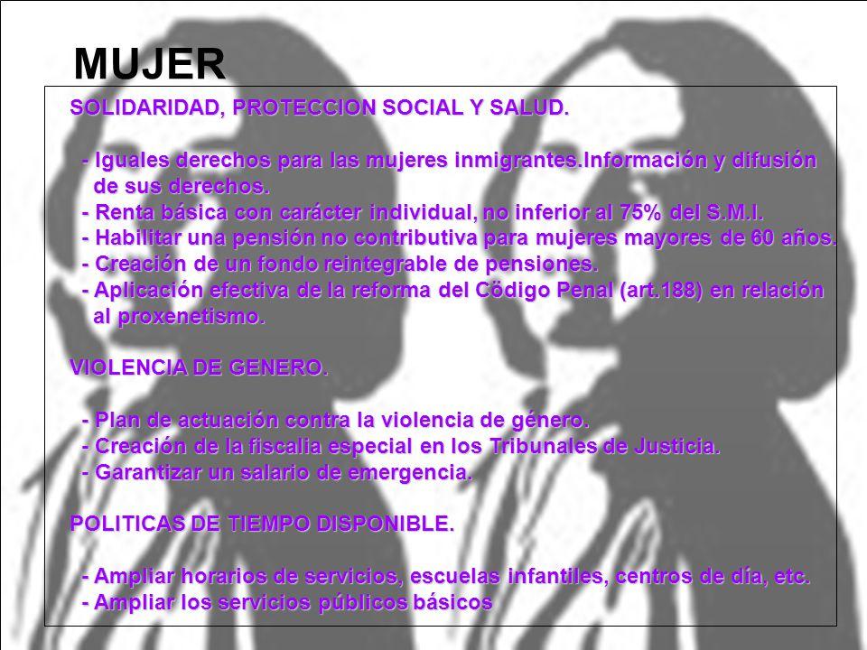 SOLIDARIDAD, PROTECCION SOCIAL Y SALUD. - Iguales derechos para las mujeres inmigrantes.Información y difusión - Iguales derechos para las mujeres inm