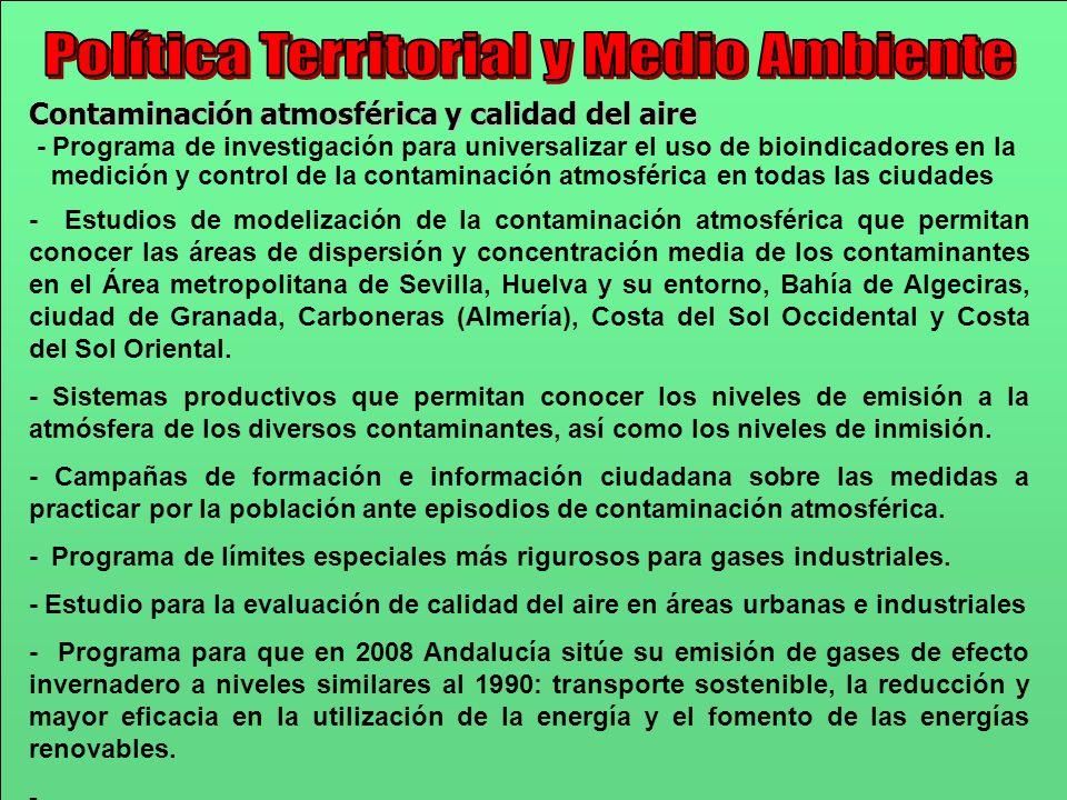 Contaminación atmosférica y calidad del aire - Programa de investigación para universalizar el uso de bioindicadores en la medición y control de la co