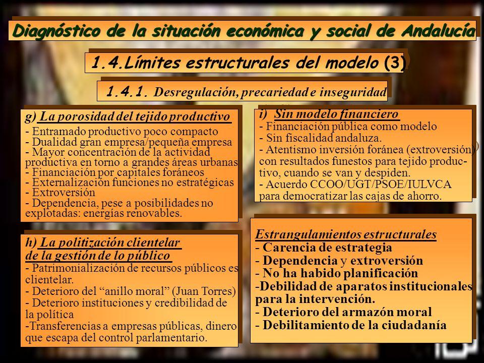 Diagnóstico de la situación económica y social de Andalucía 1.4.Límites estructurales del modelo (3) g) La porosidad del tejido productivo - Entramado
