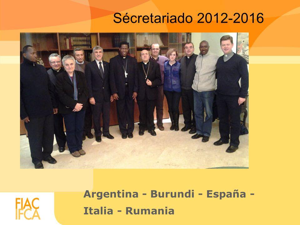 Sécretariado 2012-2016 Argentina - Burundi - España - Italia - Rumania