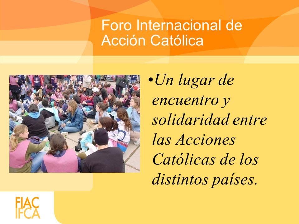 Un órgano de servicios que promueve y profundiza el ministerio específico que debe desarrollar la Acción Católica en los diversos contextos históricos, culturales y eclesiales.