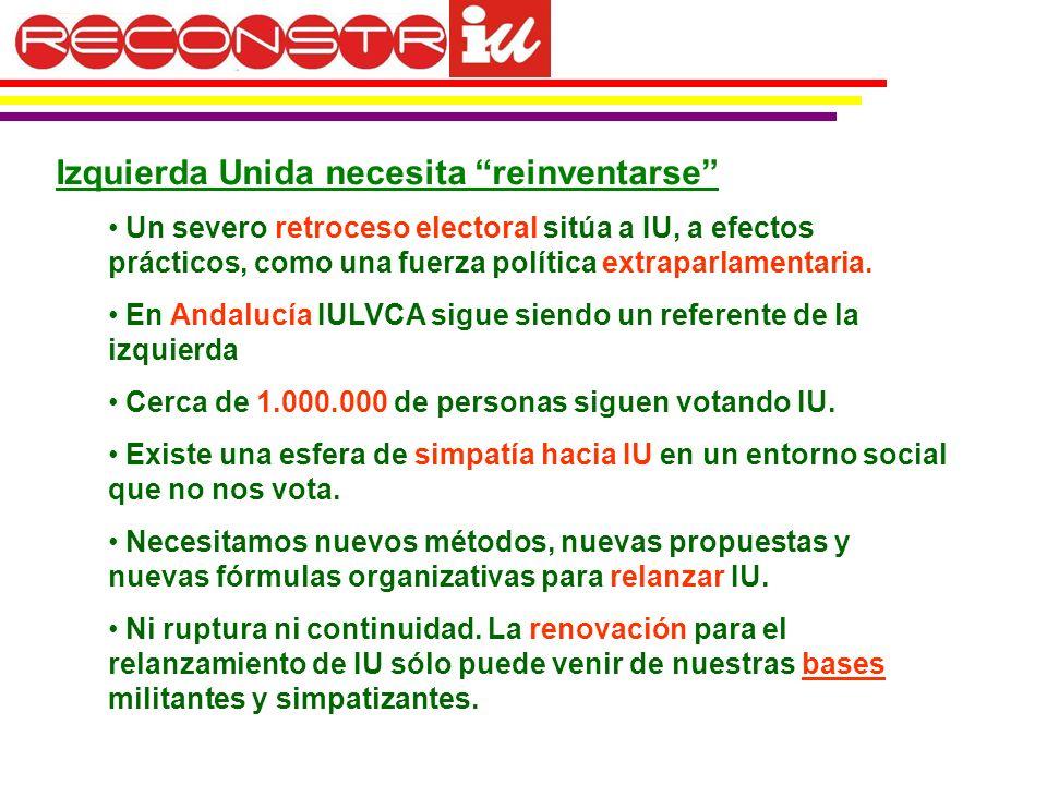 Izquierda Unida necesita reinventarse Un severo retroceso electoral sitúa a IU, a efectos prácticos, como una fuerza política extraparlamentaria.