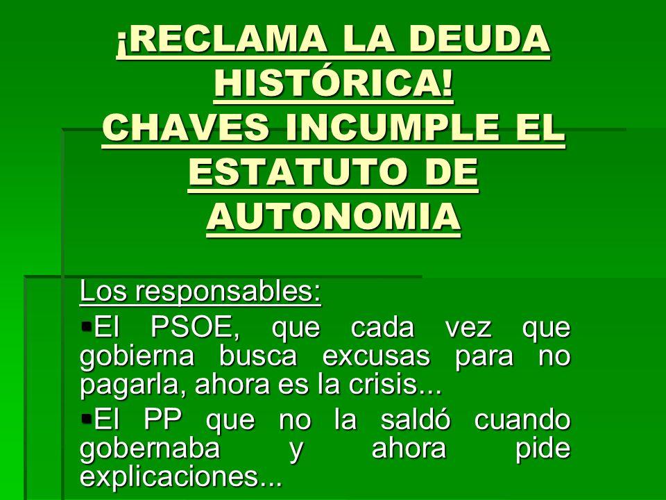 ¡RECLAMA LA DEUDA HISTÓRICA.