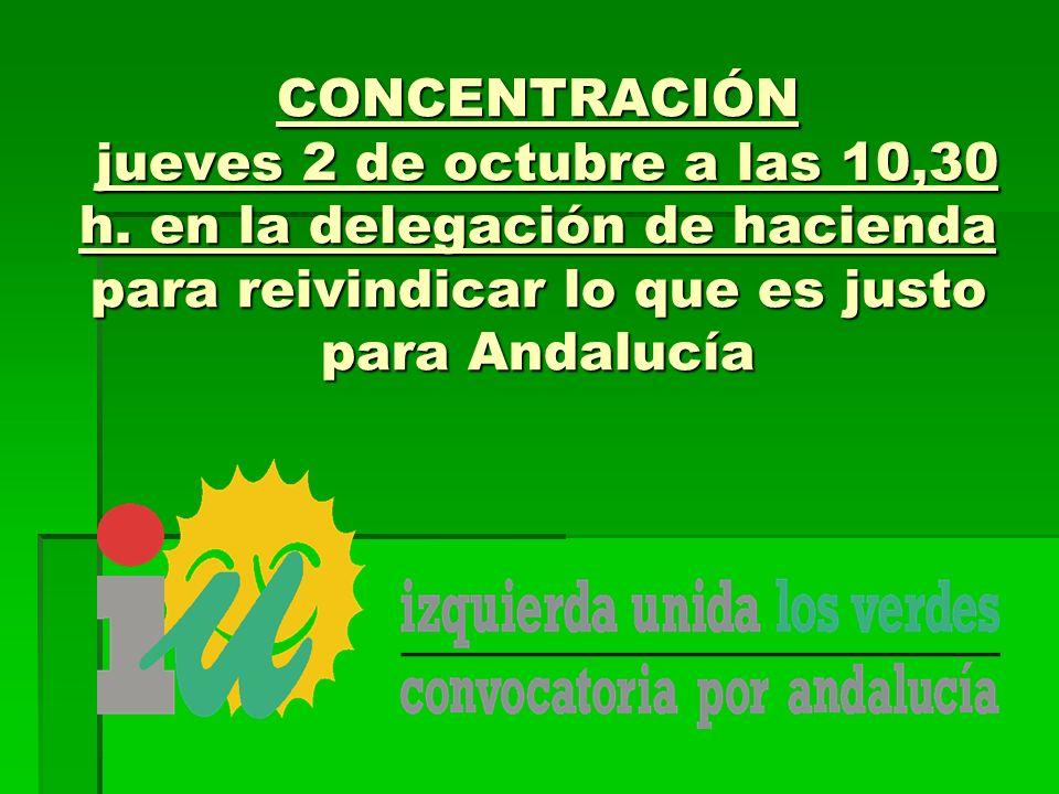 CONCENTRACIÓN jueves 2 de octubre a las 10,30 h.