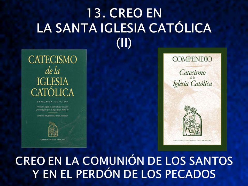 13. CREO EN LA SANTA IGLESIA CATÓLICA (II) CREO EN LA COMUNIÓN DE LOS SANTOS Y EN EL PERDÓN DE LOS PECADOS