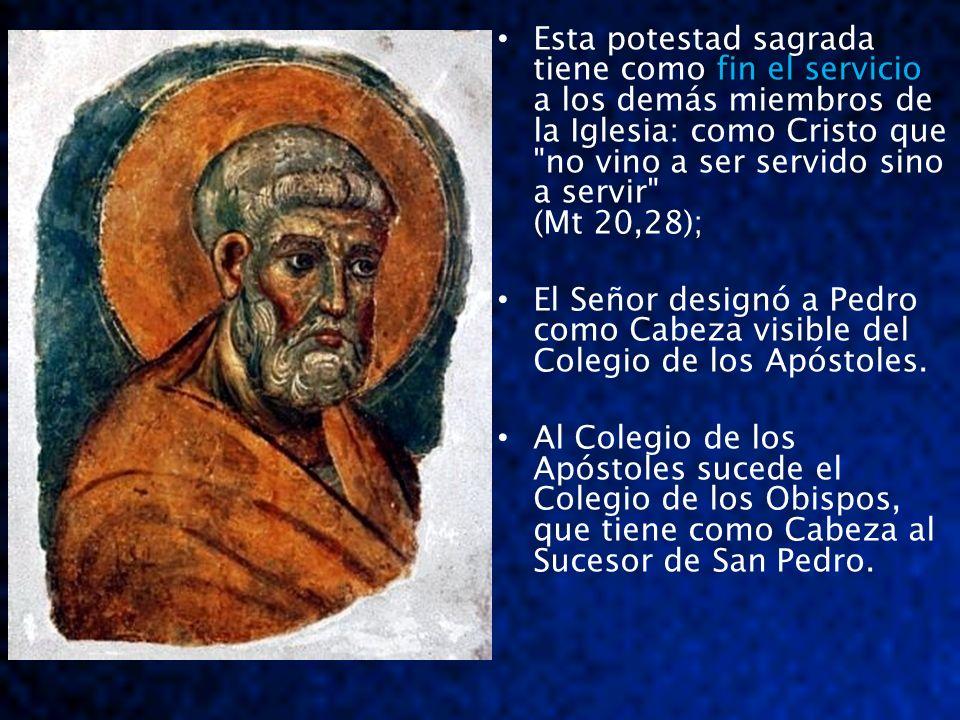 El Santo Padre es - Sucesor de San Pedro - Obispo de Roma, - (Romano Pontífice), - Vicario de Cristo.