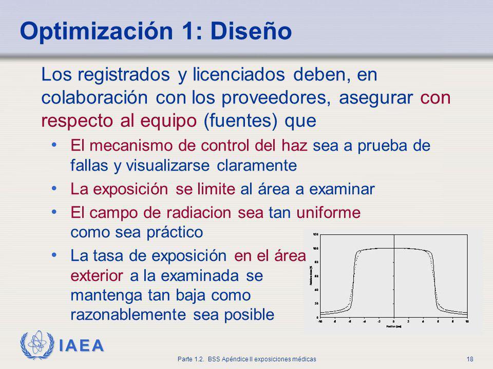 IAEA Parte 1.2. BSS Apéndice II exposiciones médicas18 Los registrados y licenciados deben, en colaboración con los proveedores, asegurar con respecto