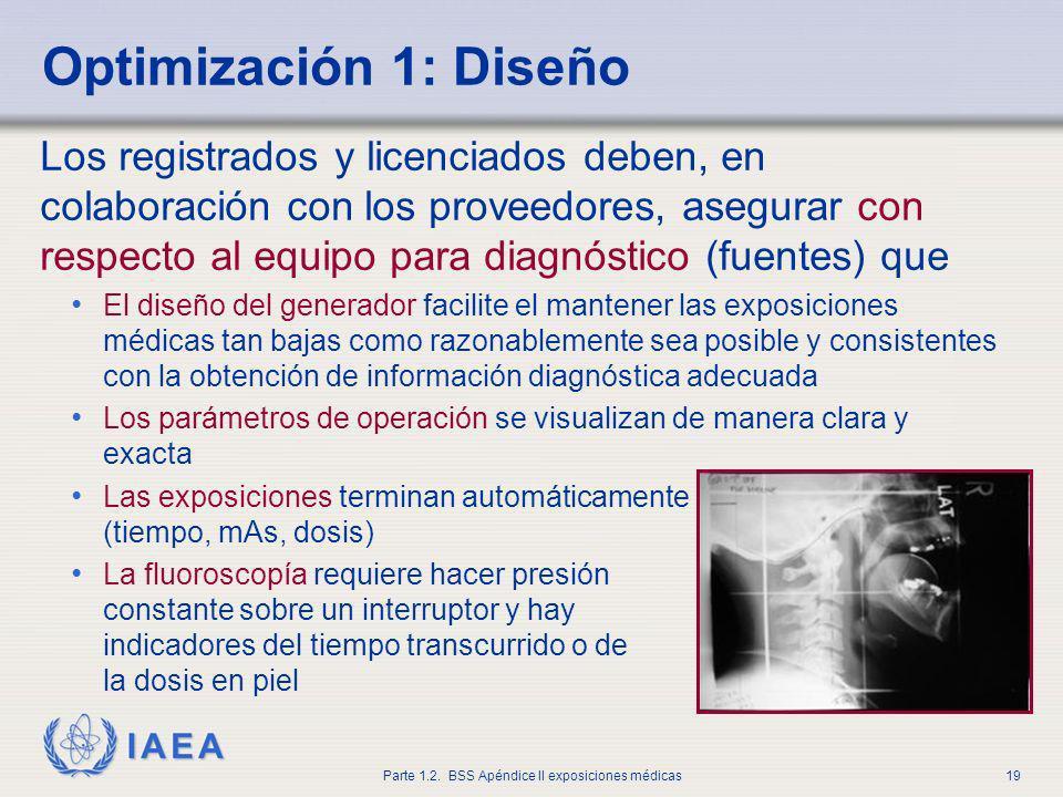 IAEA Parte 1.2. BSS Apéndice II exposiciones médicas19 Los registrados y licenciados deben, en colaboración con los proveedores, asegurar con respecto