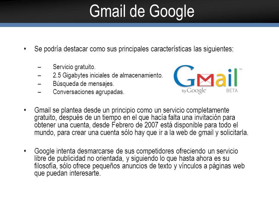 Bibliografia A continuación los links mas saltantes http://www.microsoft.com/business/smb/es- es/legal/uso_laboral_mail.mspxhttp://www.microsoft.com/business/smb/es- es/legal/uso_laboral_mail.mspx http://mail.google.com/mail/help/intl/es/about.html http://mail.google.com
