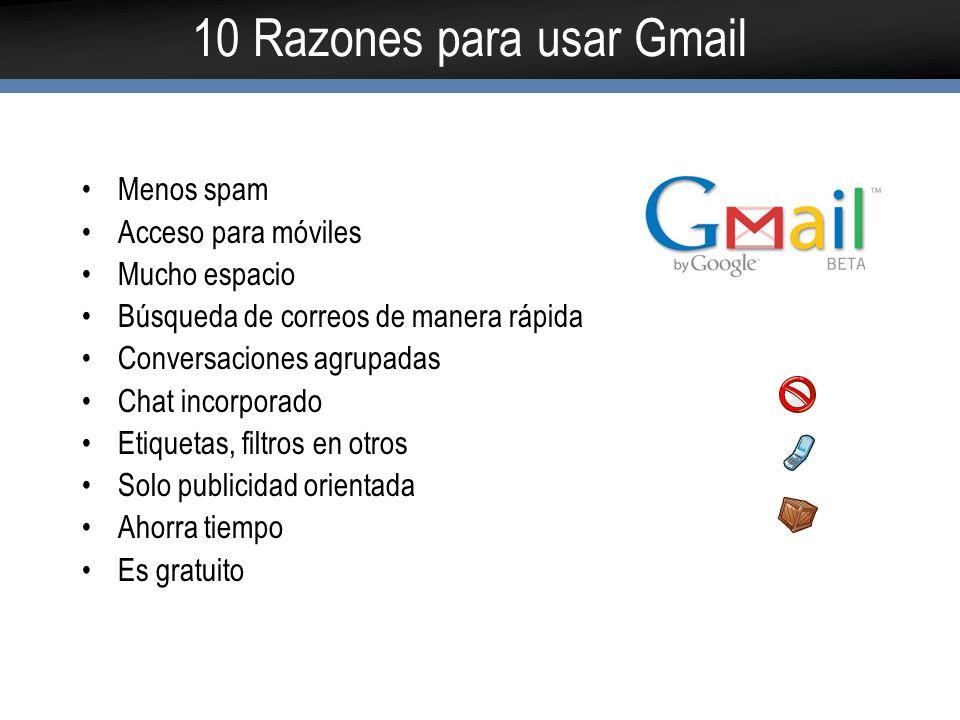 Desventajas de Gmail En realidad Gmail no tiene muchas desventajas No se puede adaptar a los colores de la empresa Puede existir riesgo de seguridad Se depende al 100% de google El chat incorporado podría traer algo de distracción Perdida de imagen corporativa