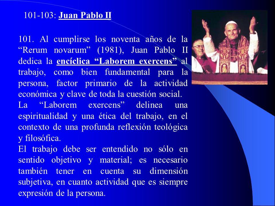98-100: Pablo VI continúa la GS y afirma que: el desarrollo es el nuevo nombre de la paz, en la Enc. Populorum Progressio. Plantea que procurar el des