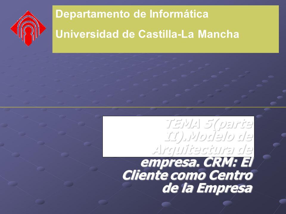 Departamento de Informática Universidad de Castilla-La Mancha TEMA 5(parte II).Modelo de Arquitectura de empresa.