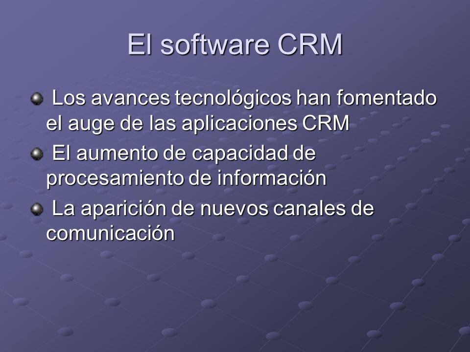 El software CRM Los avances tecnológicos han fomentado el auge de las aplicaciones CRM Los avances tecnológicos han fomentado el auge de las aplicacio
