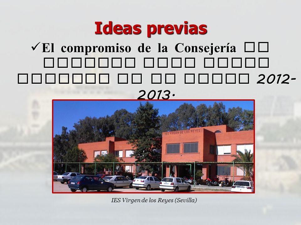 Ideas previas El compromiso de la Consejería de aprobar este nuevo Decreto en el curso 2012- 2013. El compromiso de la Consejería de aprobar este nuev