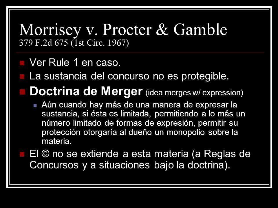 Morrisey v.Procter & Gamble 379 F.2d 675 (1st Circ.